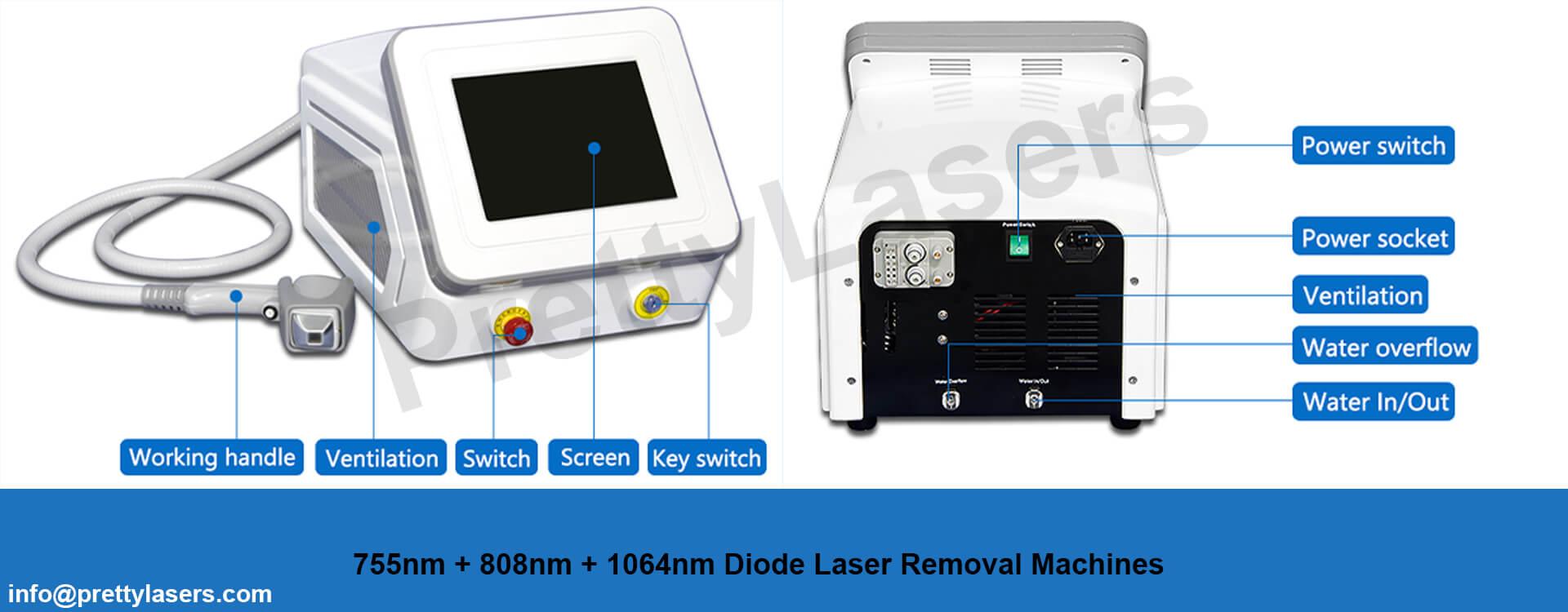 Triple Wavelengths Diode Laser Machine