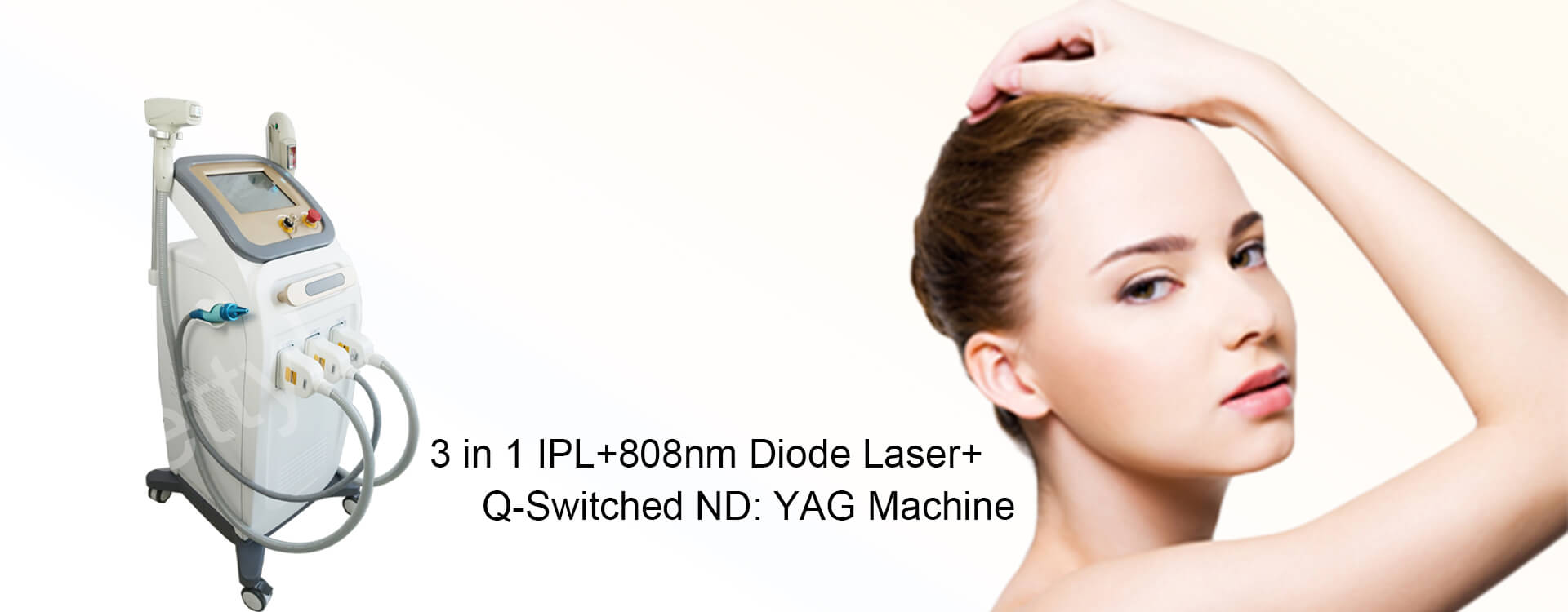 3 in 1 IPL+808nm Diode Laser+Q-Switched ND: YAG Machine
