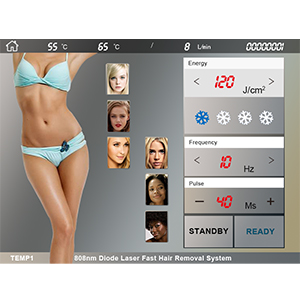 808nm Hair Removal Treatment Interface