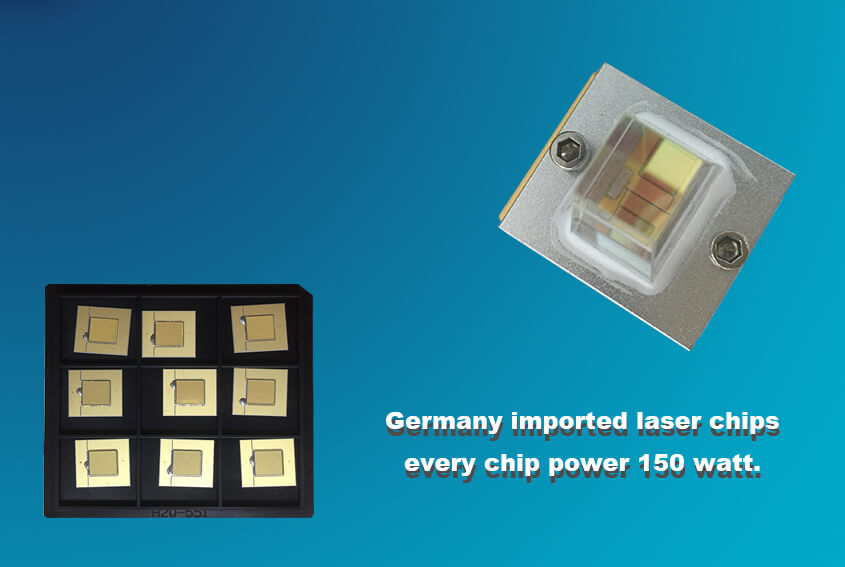 Germany imported laser chips-every chip power 150 watt.