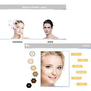 Hair remvoal for women and men interface