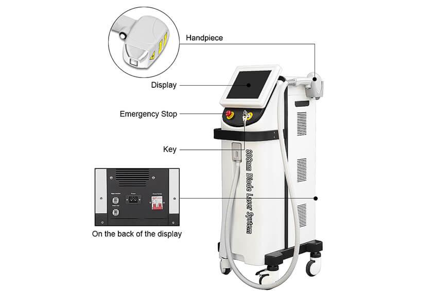 Machine Features Of Best Salon Laser Hair Removal Machine