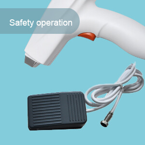Safety operation: Hand and pedal double operation modes