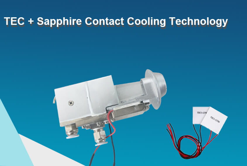 Strong TEC + Sapphire Contact Cooling Technology