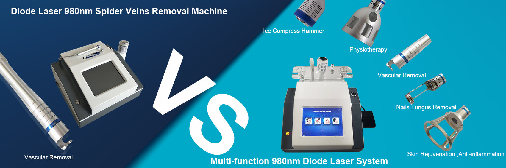 980nm spider vein removal machine VS 4 in 1 980nm Diode Laser machine