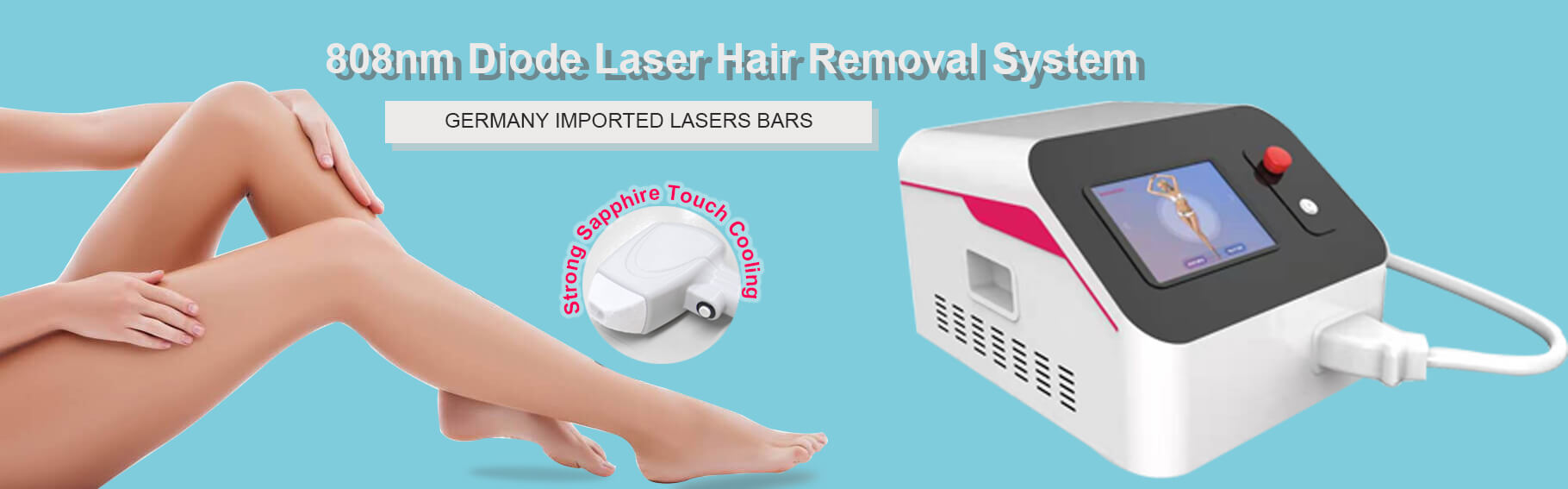Salon Laser Hair Removal System PL 206 With Cooling System