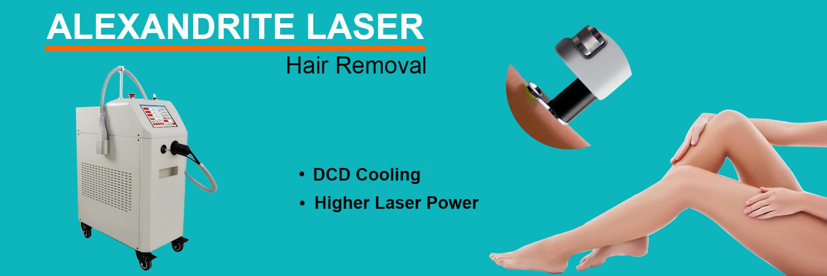 755nm Alexandrite Laser Hair Removal Machine