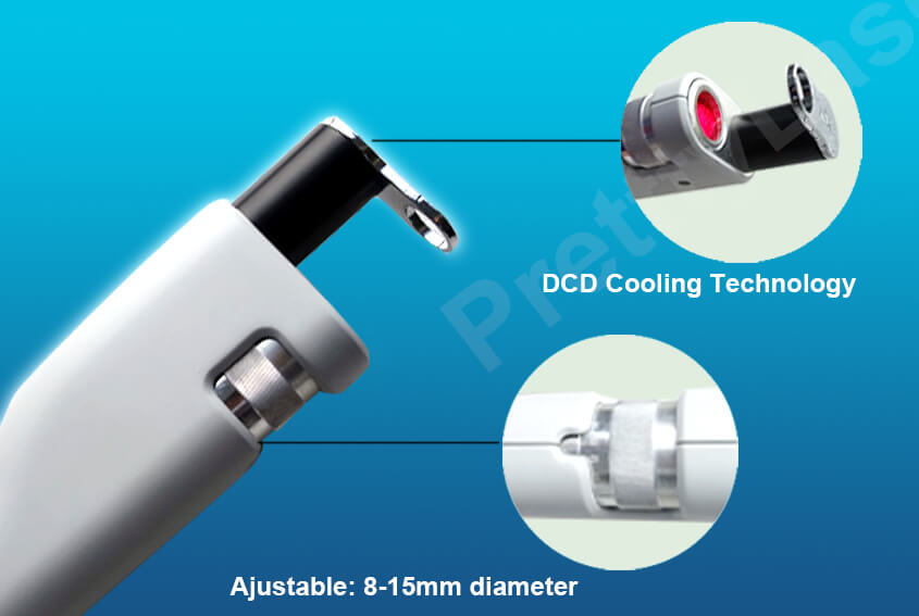 DCD Professional Dynamic Cooling System And Ajustable Spot Size
