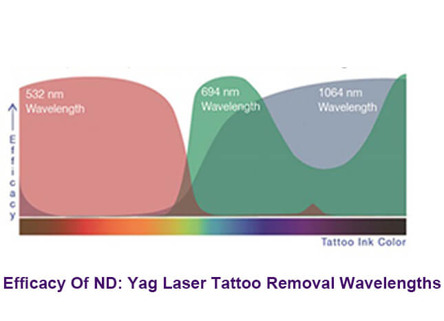 Efficacy Of ND: Yag Laser Tattoo Removal Wavelengths