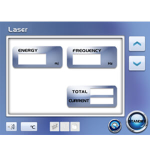 ND:YAG Laser sytem parameters setting interface Operation