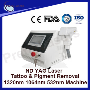 ND YAG Laser Tattoo & Pigment Removal 1320nm 1064nm 532nm Machine