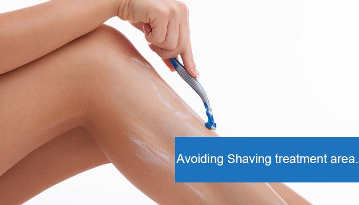 Shaving treatment area.