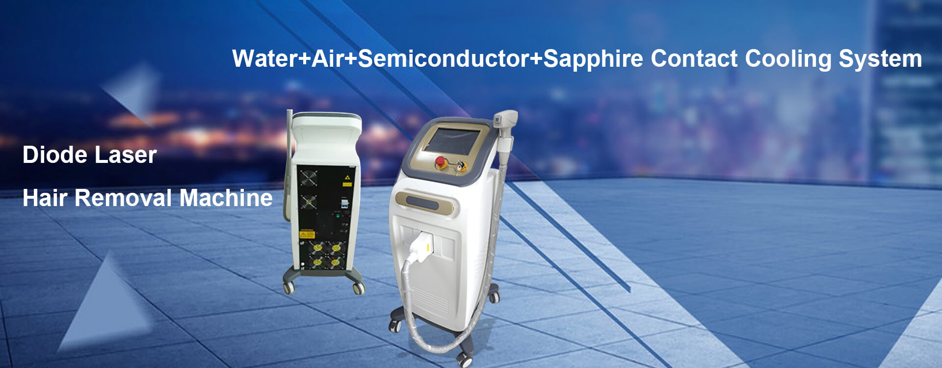 Water+Air+Semiconductor+Sapphire Contact Cooling System
