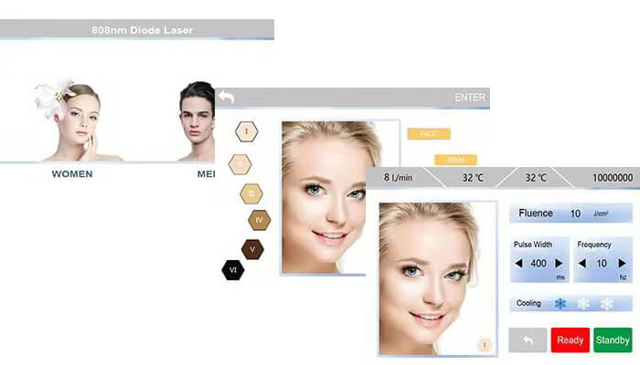 Intuitive, user friendly LCD Touchscreen
