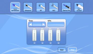 Hydra Dermabrasion Interface