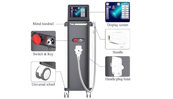 Triple Wavelength Diode Laser Hair Removal Machine OEM