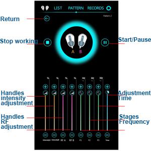 Adjustment Parameters Interface